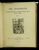 The Bookbinder: an Illustrated Journal for Binders, Librarians, and All Lovers of Books volume 1
