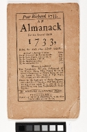 Poor Richard, 1733 an Almanack
