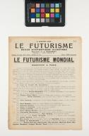 Le futurisme : revue synthtique illustre : 11 janvier 1924, n. 9 / directeur, F.T. Marinetti