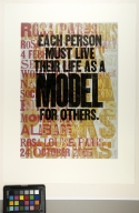 "Fourteen Quotes from Rosa Louise Parks, Civil Rights Activist: ""Each person must live their life as a model for others."""