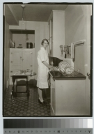 Dishwashing operation, Practice House, Rochester Athenaeum and Mechanics Institute