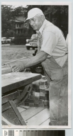 Carpenter George Herkimer at work on Clark Building, Rochester Institute of Technology