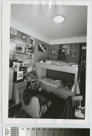 Sleeping student in dorm room, Nathaniel Rochester Hall, Rochester Institute of Technology