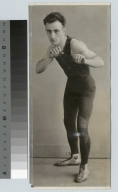 Student activities, Portrait of a member of the first Rochester Athenaeum and Mechanics Institute wrestling team, 1928