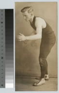 Students activities, portrait of a member of the first RAMI wrestling team, 1928