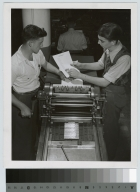 Offset printing operation, Department of Publishing and Printing, Rochester Institute of Technology