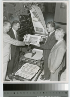 Dignitaries at the Department of Publishing and Printing, Rochester Institute of Technology