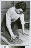 Student working with clay, School for American Craftsmen, Rochester Institute of Technology