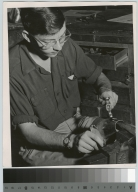 Student silversmithing, School for American Craftsmen, Rochester Institute of Technology