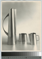Silver pitcher, creamer and bowl, School for American Craftsmen, Rochester Institute of Technology