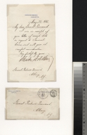 Chester A. Arthur letter to General Frederick Townsend