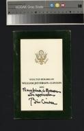 William Clinton signature
