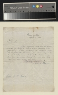 Millard Fillmore letter to Captain E. F. Gilbert