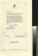 Gerald Ford letter to Frederick Wiedman, Jr.