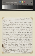 James Garfield letter to Rose