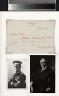 Warren G Harding letter and photographs