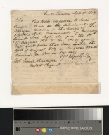 William Harrison letter to Samuel Huntington