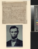 Abraham Lincoln letter to J. and D. Gillespie with photograph
