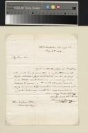 James Polk letter to Gideon Lee