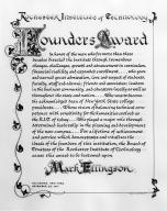 Mark Ellingson, Founders Award