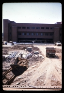 Construction site near Liberal Arts Hall