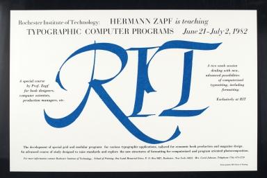 Hermann Zapf is Teaching Typographic Computer Programs, June 21-July 2, 1982