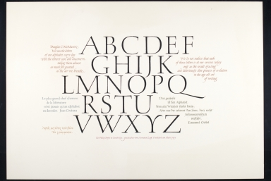 Alphabet calligraphic quotes