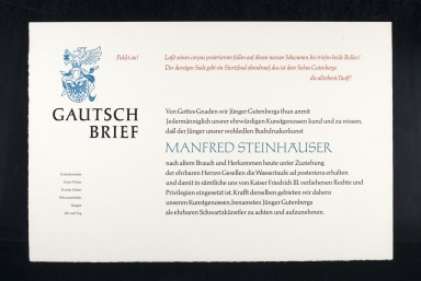 Gautsch Brief