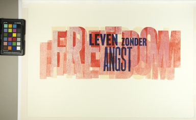 """Leven wonder angst,"" Freedom from fear"