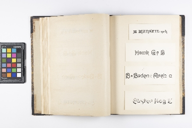 Album of Designs for Typefaces and Borders, 1866-1888