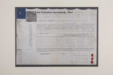 Indenture of Edward Wheatley, apprenticed to Thomas Richardson & Son Bookbinders, of Derby