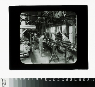Machine shop, Department of Industrial Arts, Rochester Athenauem and Mechanics Institute