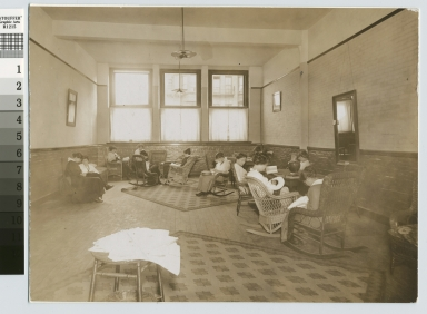 Girls' lounge, Eastman Building, Rochester Athenaeum and Mechanics Institute