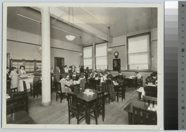 Cafeteria, Eastman Building, Rochester Athenaeum and Mechanics Institute.