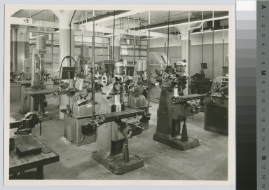 Equipment room, Mechanical Department, George H. Clark Building. Rochester Institute of Technology
