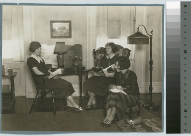Students relaxing. Jenkinson Apartments, Rochester Athenaeum and Mechanics Institute