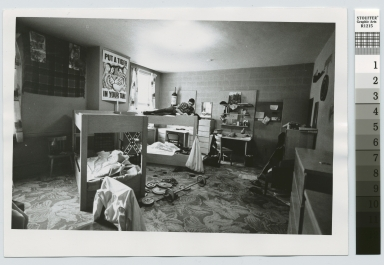 Student studying in dorm, Nathaniel Rochester Hall, Rochester Institute of Technology