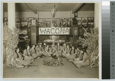 Wacona Girls meeting, Library, Eastman Building, Rochester Athenaeum and Mechanics Institute