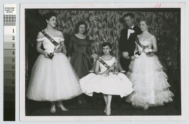 Group portrait, Sweetheart Ball Queen and her court, Rochester Institute of Technology