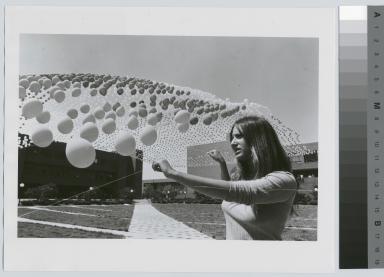 Blanket of balloons, Rochester Institute of Technology's Henrietta Campus