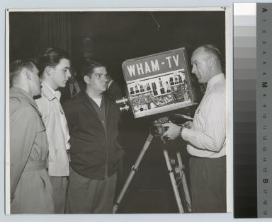 Students touring WHAM - T.V. Studios, Rochester, New York