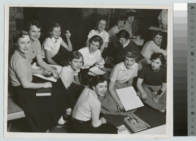 Student activities, group portrait of sorority sisters