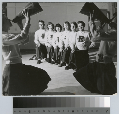 Student activities, group portrait of the RIT Cheerleaders, 1951