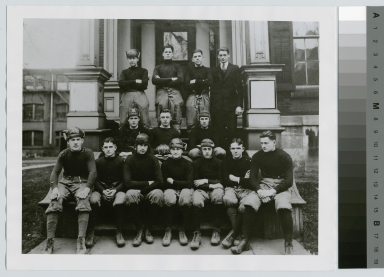 Student activities, group portrait of the Rochester Athenaeum and Mechanics Institute football team, 1920