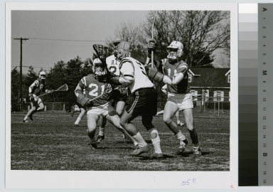 Student activities, Rochester Institute of Technology men's lacrosse game, [1968-1980]
