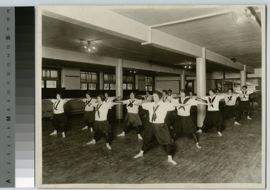 Student activities, Rochester Athenaeum and Mechanics Institute girls gym class, 1916