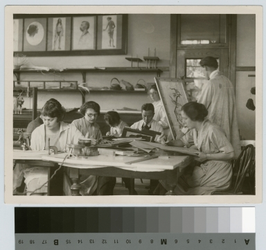 Crafts class, Department of Applied and Fine Arts, Rochester Athenaeum and Mechanics Institute