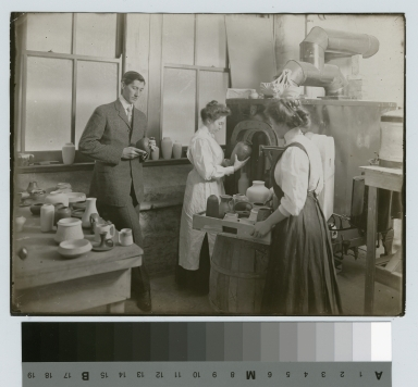 Kiln operation, Department of Applied and Fine Arts, Rochester Athenaeum and Mechanics Institute