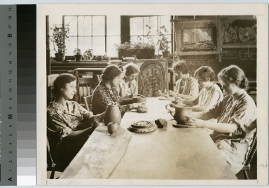 Crafts class, Department of Applied and Fine Arts. Rochester Athenaeum and Mechanics Institute