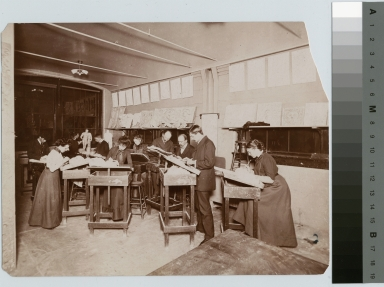 Modeling class, Department of Applied and Fine Arts, Rochester Athenaeum and Mechanics Institute